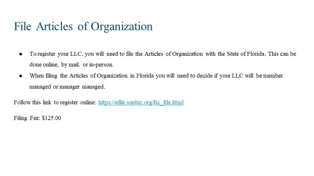 How to Form an LLC in FLorida 4