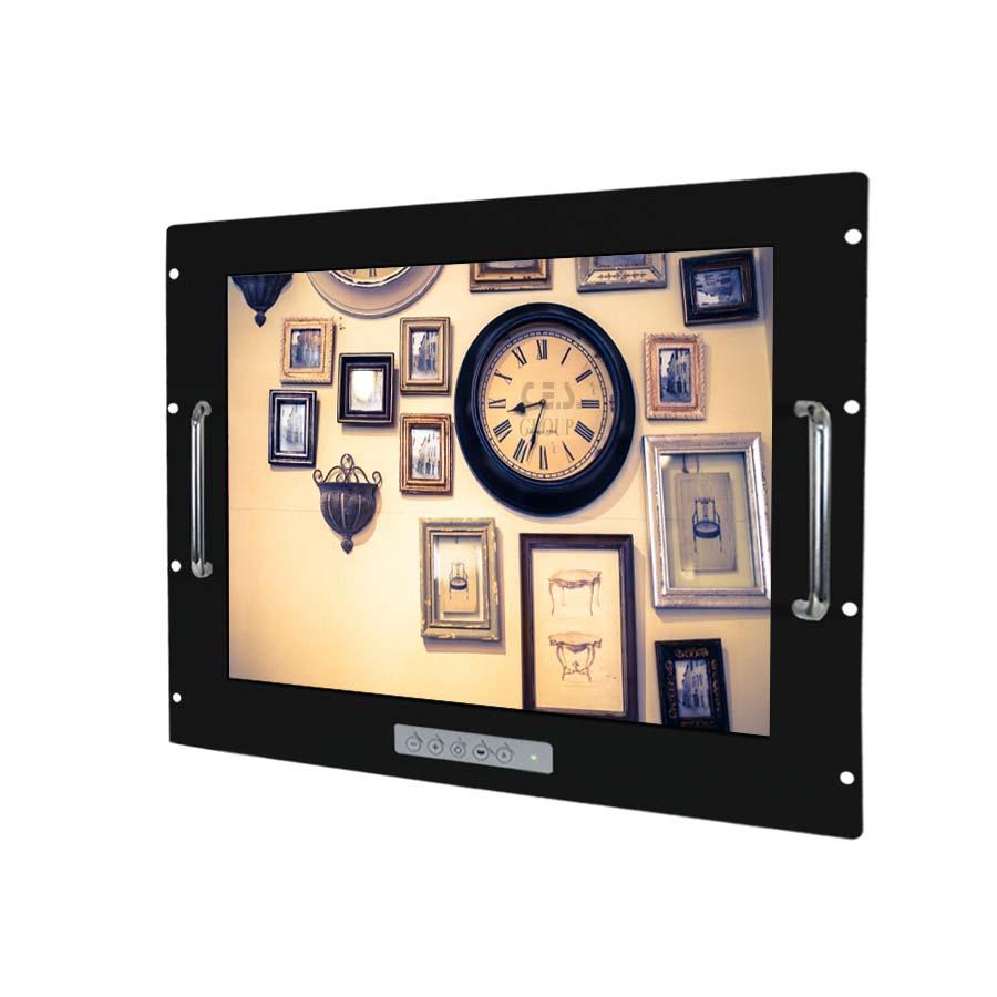 19英吋 工業級手把安裝鋁前框液晶螢幕