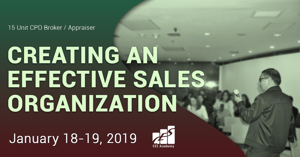 Creating An Effective Sales Organization