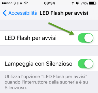 led-flash ios 10