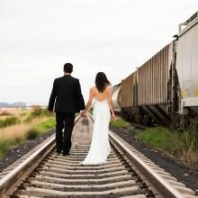 boda, fotos, fotografía, espaldas, tren, amor