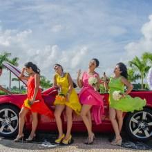 Cesar Salas ,Boda playa novios cancun coche