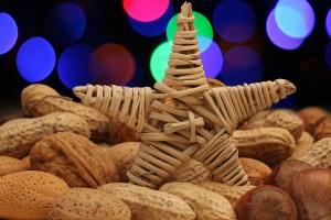 Cacahuates y nueces de navidad