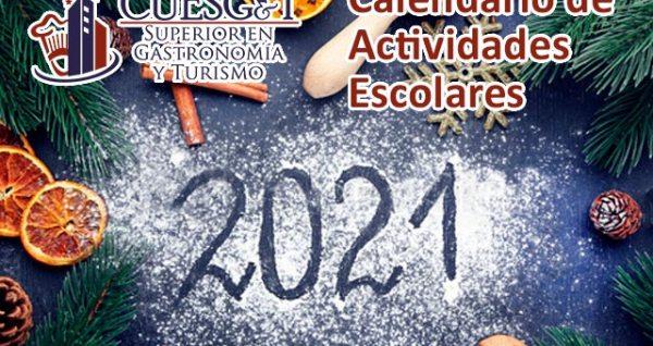 Calendario escolar CUESGyT 2021