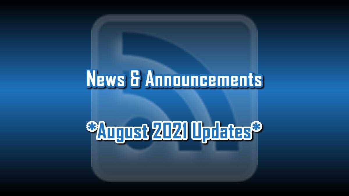 August 2021 Updates