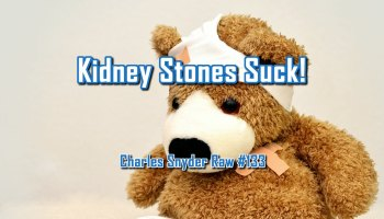 Kidney Stones Suck - Charles Snyder Raw #133: It's unscripted, unplanned and uncooked!