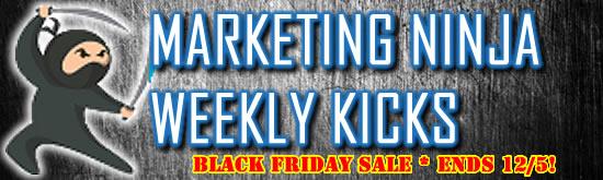 CYBER MONDAY DEAL - ENDS 12/5 - Marketing Ninja Weekly Kicks Club by C. E. Snyder Marketing LLC