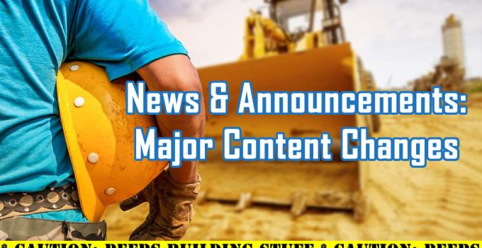News & Announcements: Major Content Changes to the C. E. Snyder Marketing LLC web assets