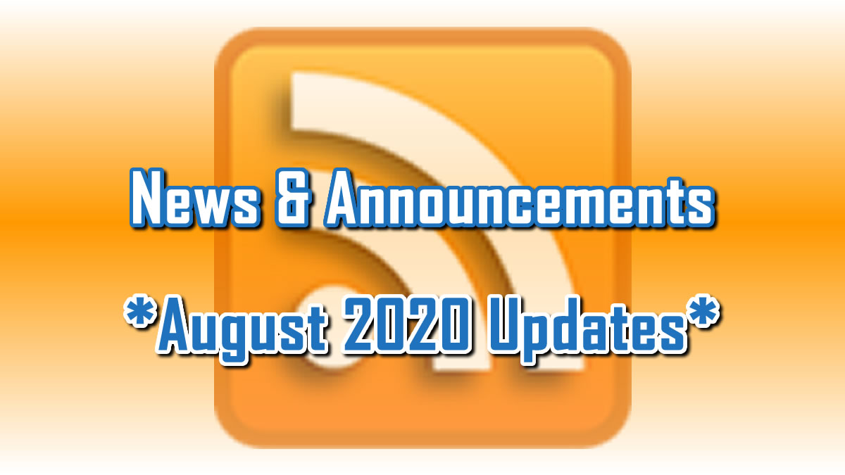 August 2020 Updates