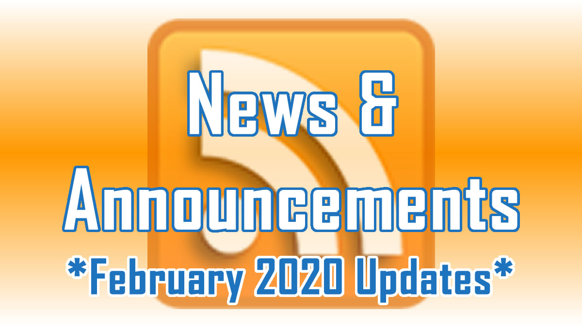 February 2020 Updates