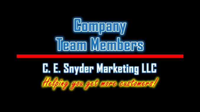 C. E. Snyder Marketing LLC: Team Members
