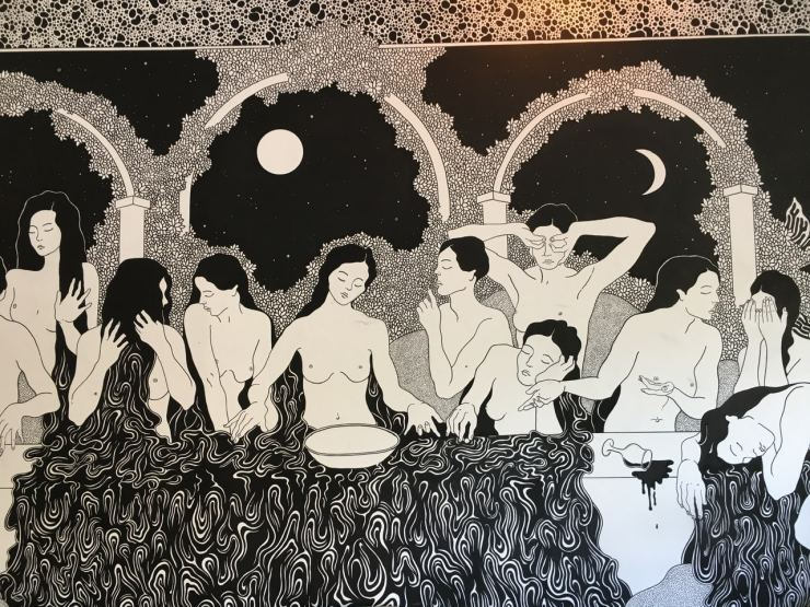 Fresque à la brasserie communale à Marseille