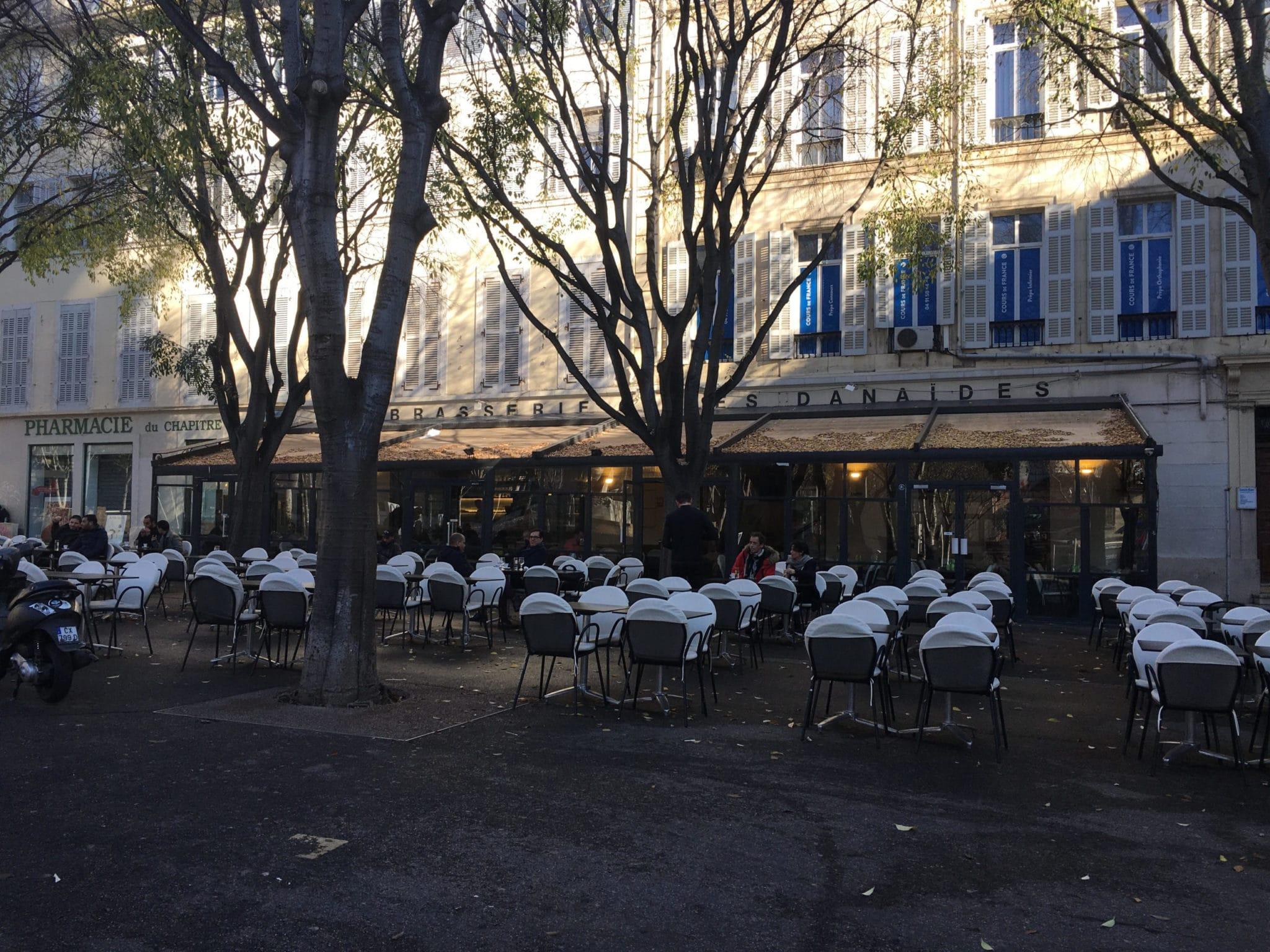 danaides terrasse plein centre