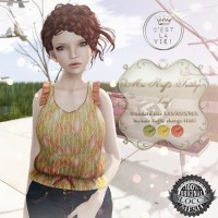 ::C'est la vie !:: Mee Ruffled tankTop -leaf- for Fifty Linden Fridays