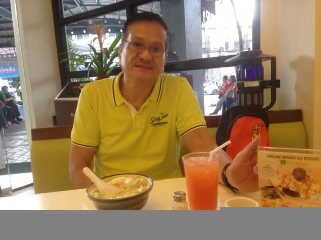 My dad enjoying his favorite Lomi