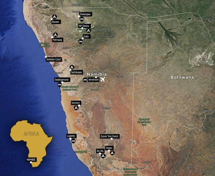 Namibie_mapa