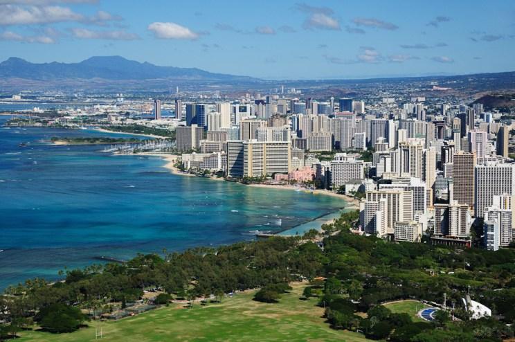 Výhled na Waikiki