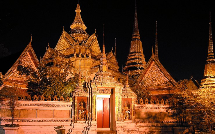 Bangkok | Wat Pho v noci