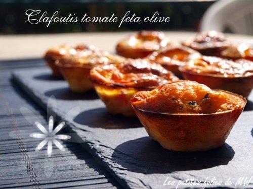 Clafoutis tomate fêta olive