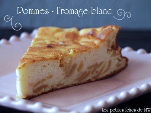 Gâteau au fromage blanc et pommes