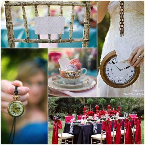 décoration de mariage thème alice au pays des merveilles
