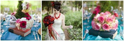 fleurs mariage thème alice au pays des merveilles