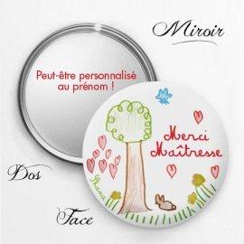 miroir personnalisé à offrir à la maîtresse