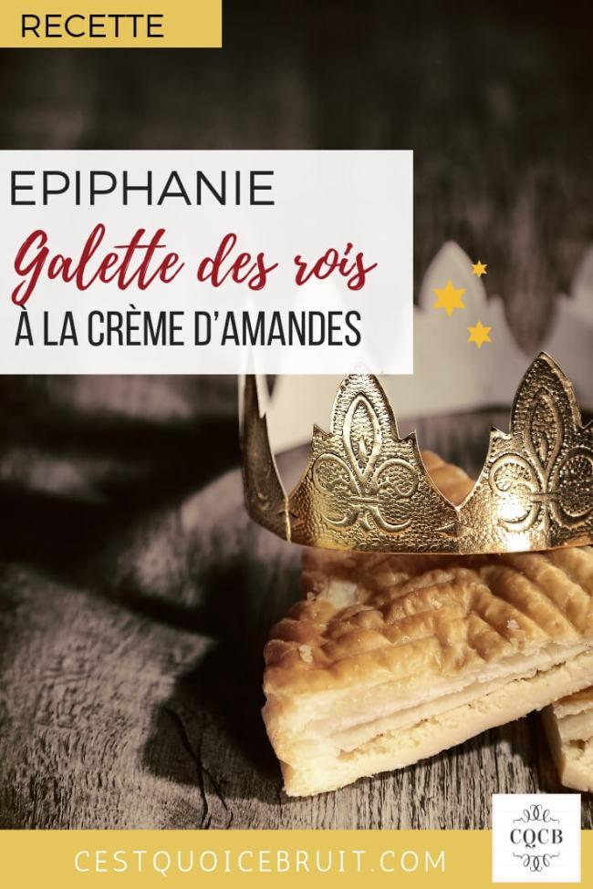 Recette épiphanie : la galette des rois à la crème d'amande #epiphanie #frangipane #galette #galettedesrois #recipe #food