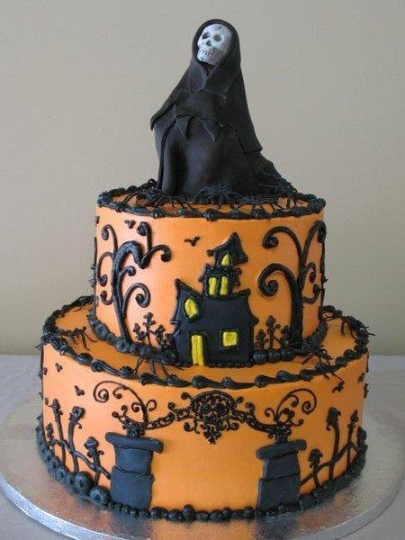 Gâteau décoré pour Halloween