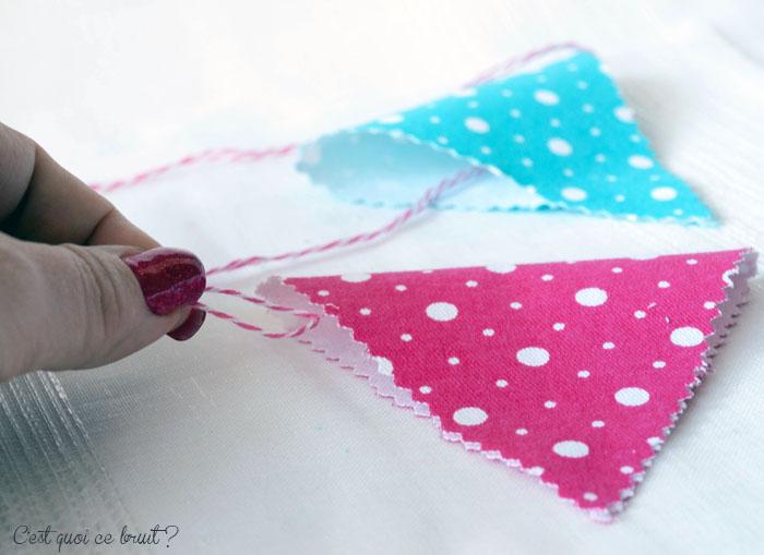 DIY : La guirlande de fanions ! facile à faire avec les enfants