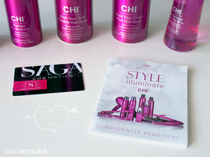 Chi Miss Univers Style Illuminate chez Saga cosmetics