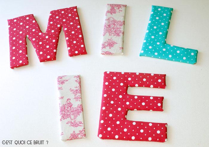 DIY Fabriquer son prénom en lettres géantes et tissu et personnaliser une chambre d'enfant