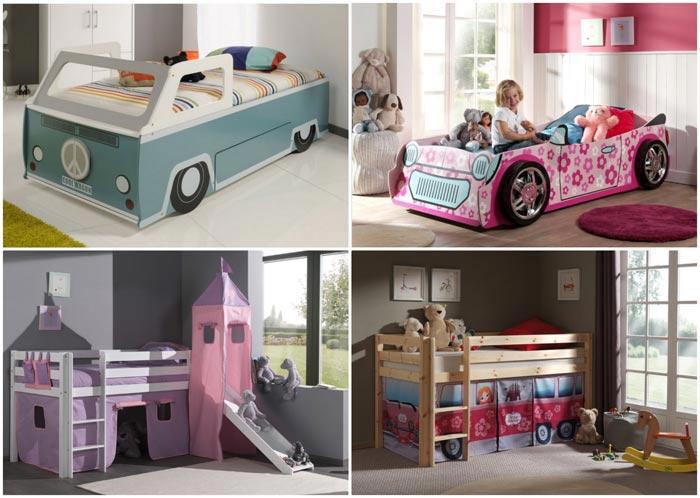 Lit voiture et lit cabane pour enfant Emob4kids