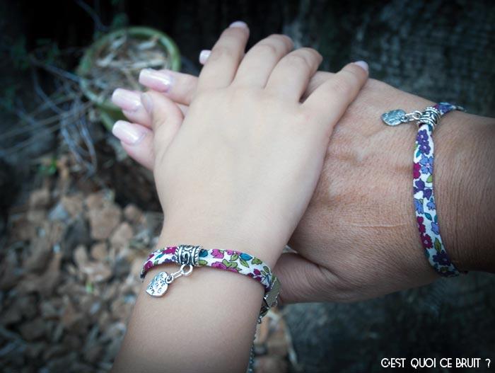 Fabriquer un bracelet mère-fille en liberty
