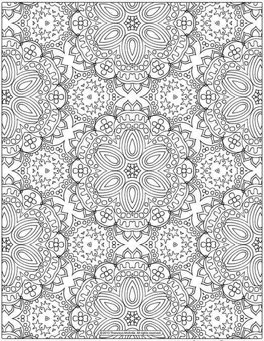 Coloriage anti-stress à imprimer gratuitement : mandala pour adultes