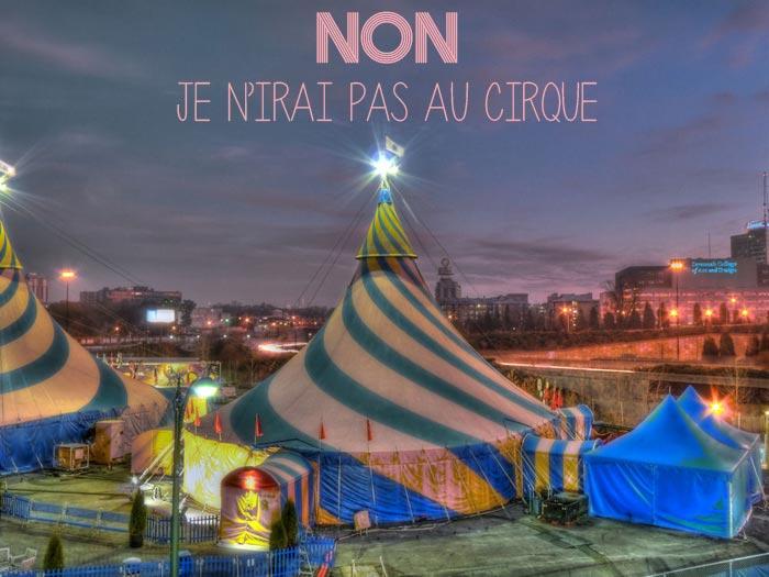 Non au cirque