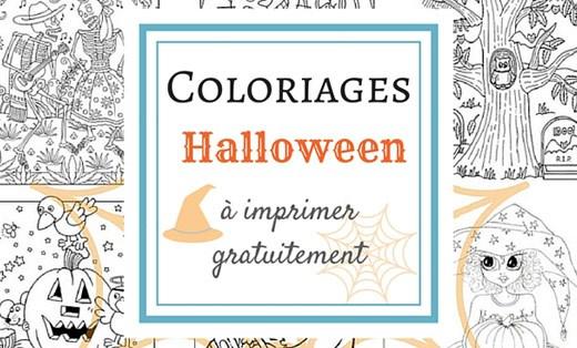 Coloriage gratuit à imprimer pour Halloween