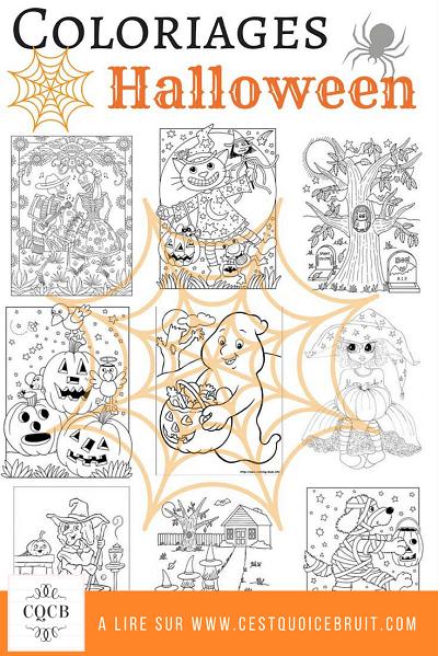 Coloriages Halloween à imprimer gratuitement sur https://cestquoicebruit.com #coloriages #halloween