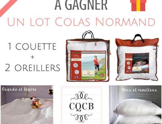 Concours Colas Normand un ensemble couette et oreillers à gagner