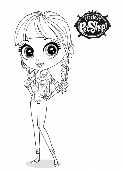 Coloriage Littlest Pestshop