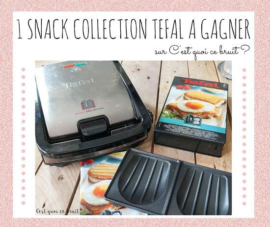 snack collection tefal à gagner
