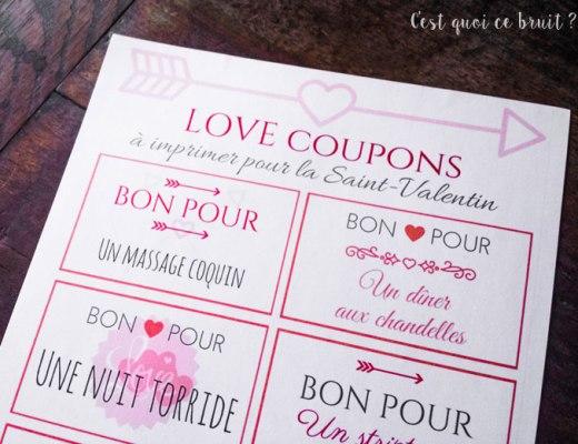 Coupons d'amour à imprimer pour la Saint-valentin