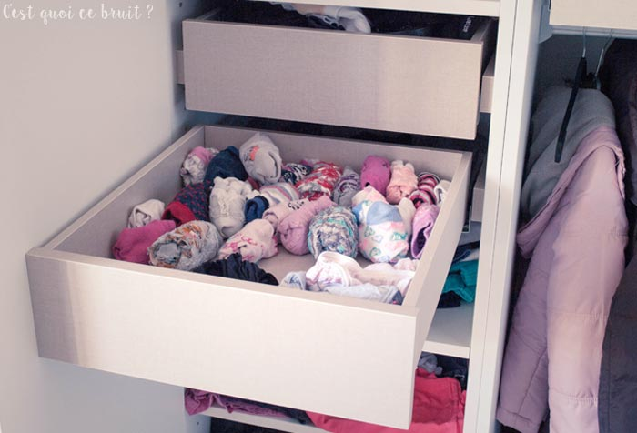 Armoire sur-mesure pour une belle chambre de fille