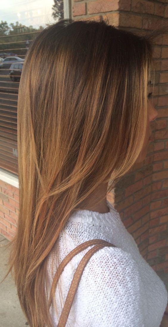 balayage cheveux caramel