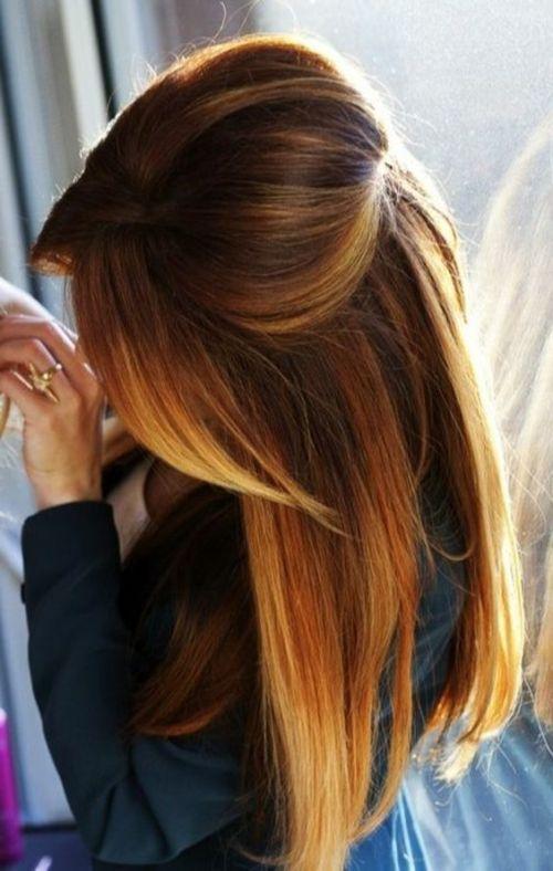 Ombre hair roux broux
