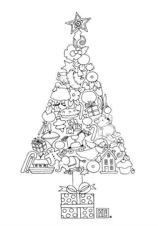 Coloriage Noël à imprimer gratuitement : sapin