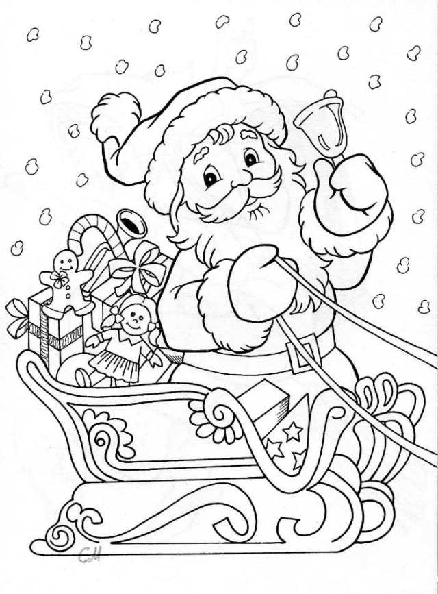 Coloriage Père Noël
