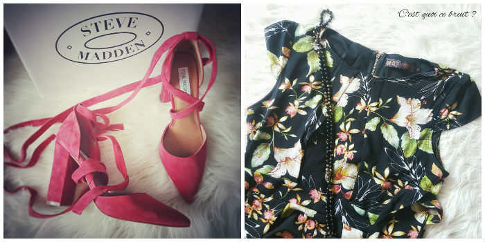 Shopping janvier : robes Asos et escarpins Steve Madden