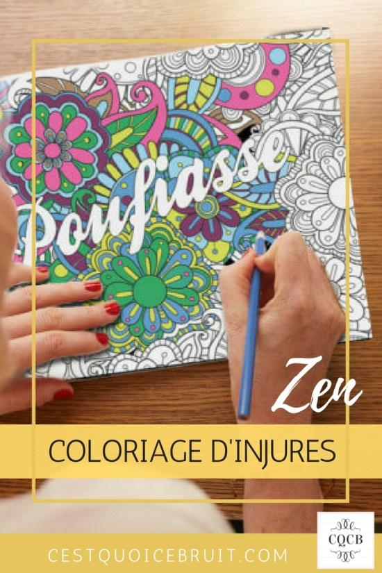 Coloriages zen pour adultes : colorier des injures #coloriages #coloriage #zen #stress #humour #feelgood