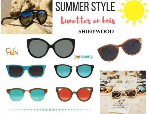 lunettes de soleil en bois ShinyWood